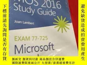 二手書博民逛書店MOS罕見2016 Study Guide for Microsoft Word (16開 ) 【詳見圖】, 未開