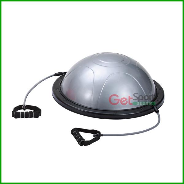 半圓瑜珈球踏墊(拉繩無顆粒款)(瑜珈球座/平衡球/半圓球/彈力繩/平衡墊/Bosu Ball/Balance step)