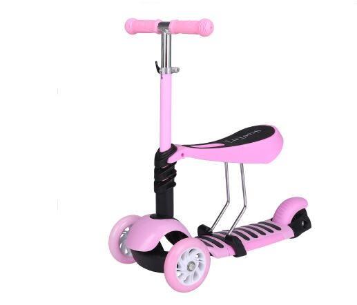三合一滑板車兒童四輪1-2-3-6歲寶寶可坐初學者男女孩小孩溜溜車igo 酷男精品館