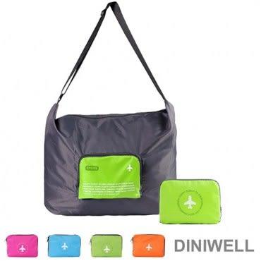 DINIWELL多功能單肩斜背可折疊行李箱拉桿收納包(40L) 綠色