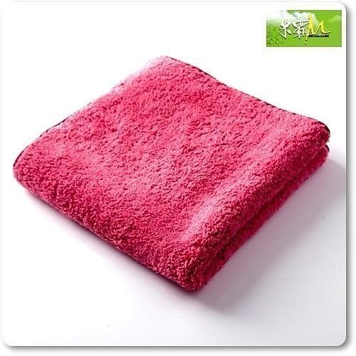 汽車打蠟布 - 長毛絨超細纖維擦拭布紅色37X37cm|DIY打臘必買下臘很好用|米羅汽車美容用品