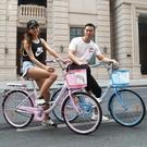 邦得利男女式自行車通勤單車城市復古代步輕便成人公主學生淑女車  ATF 極有家