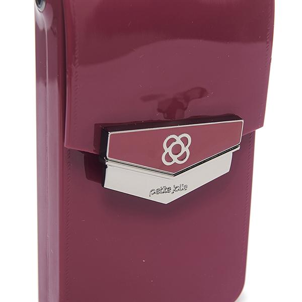 Petite Jolie  盾牌LOGO果凍手機包-酒紅色