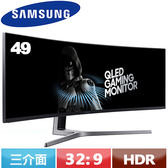 SAMSUNG三星 49型 C49HG90DME QLED超寬曲面商用液晶螢幕