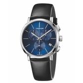 Calvin Klein CK Posh紳士簡約三眼皮帶腕錶(K8Q371CN)43mm