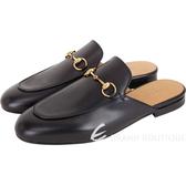 GUCCI Princetown 經典馬銜鍊穆勒鞋(黑色) 1840615-01