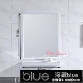 浴室鏡 浴室鏡子衛生間鏡子壁掛 洗漱梳妝鏡子太空鋁鏡子帶置物架T【全館免運】