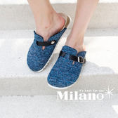 WALKING ZONE 包頭休閒鞋懶人拖鞋 女鞋 藍(另有黑、灰)