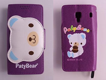 Paty Bear Xiaomi 紅米手機/紅米手機1S 側翻手機保護皮套 側立插卡內TPU軟殼 紅色