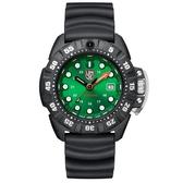 LUMINOX 雷明時Scott Cassell Deep Dive 專業深潛系列腕錶 - 金屬綠x白時標/45mm A1567