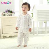 兒童睡衣女紗布純棉女童夏季套裝薄款寶寶衣服嬰兒空調服男孩夏天     米娜小鋪