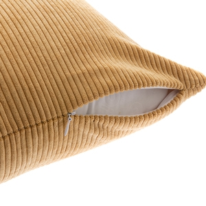 燈芯絨素色抱枕套45x45cm-芥黃