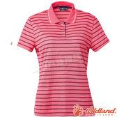 Wildland 荒野 0A61601-09桃紅色 女涼感條紋Yoke上衣 抗紫外線/涼爽散熱/吸濕快乾/條紋POLO衫