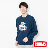 CHUMS 日本 男 Trekking Booby 圓領套頭衫 深藍 CH001092N001