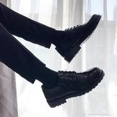 皮鞋 夏季黑色皮鞋男英倫百搭發型師鞋子男潮鞋韓版潮社會青年亮皮男鞋