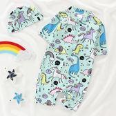 兒童泳裝~兒童泳衣男童韓國小童連體泳裝防曬分體寶寶嬰兒游泳衣泳褲套裝-薇格嚴選