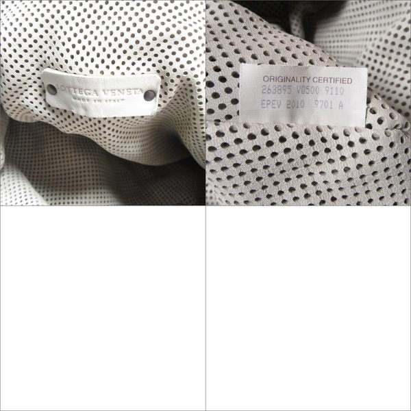 BOTTEGA VENETA BV 米白色編織皮革手提肩背包 【二手名牌 BRAND OFF】
