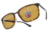RayBan 偏光太陽眼鏡 RB4303 71083 (琥珀棕-棕鏡片) 潮流方框款  # 金橘眼鏡