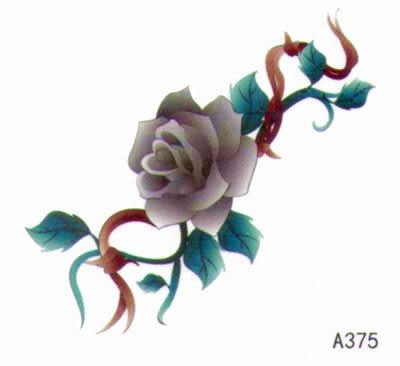 薇嘉雅  玫瑰花 超炫圖案紋身貼紙 A375