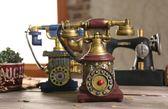 歐式復古電話機模型創意家居工藝裝飾品擺件LK1577『伊人雅舍』