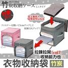 可透視衣物收納箱 直款 防塵 衣物 棉被 竹炭防潮 整理袋 儲物袋 棉被袋 收納【RB465】
