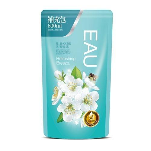 EAU耀香水沐浴乳補充包800ml-湛藍微風【愛買】