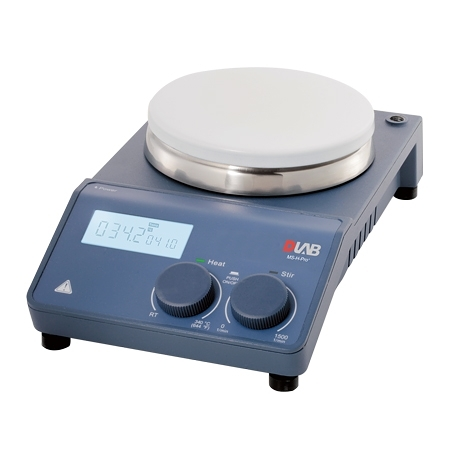 《DLAB》電磁加熱攪拌器 LCD5吋圓盤 MS-H-PRO+ 340℃ 220V Stirrer with Heating