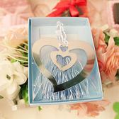 【BlueCat】婚禮小物 浪漫心心相印雙心鏤空含流蘇創意書籤