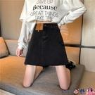 熱賣牛仔短裙 黑色牛仔半身裙女2021年裙子新款包臀裙防走光顯瘦高腰a字裙短裙 coco