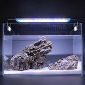 LED水草缸燈水族箱燈架LED支架魚缸照明燈LED燈架LED草燈拉桿夾燈igo  蜜拉貝爾