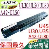 ASUS電池(保固最久)-華碩 UL30,UL50,UL80,U30,U35,U45,UL80AG,UL80VT,UL50VS,UL30JT,A32-UL50