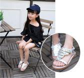 兒童鞋女童涼鞋2018新款潮小女孩韓版中大童夏季羅馬公主鞋