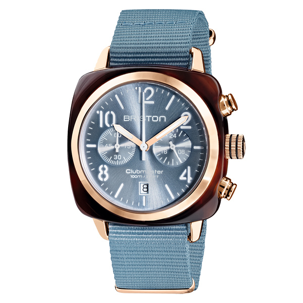 BRISTON CLUBMASTER 經典雙眼計時腕錶-丹寧藍
