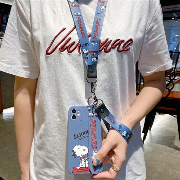 史努比腕帶軟殼 OPPO A72 A91 A9 A5 2020 手機殼 側邊印圖 直邊液態 保護鏡頭 影片支架 防滑防丟