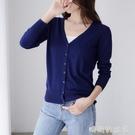 春秋季薄款針織衫開衫外套短款2020早秋新款韓版女士毛衣披肩外搭「時尚彩紅屋」