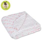 【暖冬被7折起】德國Lassig-水洗四層紗多功能毯-粉紅小鹿