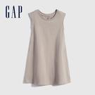 Gap女幼童 雅致純棉無袖洋裝 697795-淺紫灰
