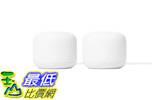 [8美國直購] Google Nest Wifi - 4x4 AC2200 Wi-Fi Mesh System with 4400 Sq ft Coverage (Router 2-Pack)