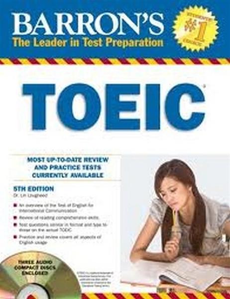 (二手書)Barron's TOEIC Test with 4 Audio CDs: Test of English for Intern..