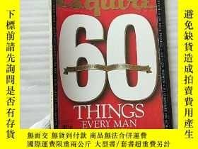 二手書博民逛書店Esquire罕見60TH ANNIVERSARY OCTOBE
