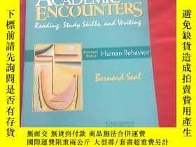 二手書博民逛書店Academic罕見Encounters: Human Beha