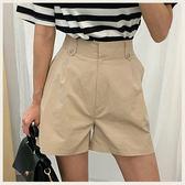 ✦Styleon✦正韓。優雅高腰寬管棉質短褲。韓國連線。韓國空運。0529。