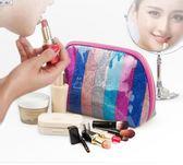化妝包 新款防水化妝包女彩色便攜手拿包收納袋旅行洗漱包浴包精美 俏女孩