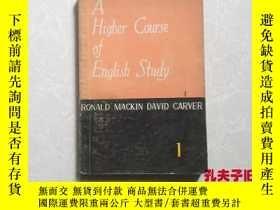 二手書博民逛書店A罕見Higher Course of English Stud