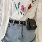 皮帶包ins風的細腰帶男女潮流韓版全孔針扣休閒小皮帶帶包包學生bf港風 麗人印象 全館免運