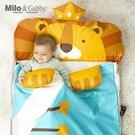 Milo & Gabby 動物好朋友 二合一超柔軟四季睡袋(LONNIE小獅王)〔衛立兒生活館〕