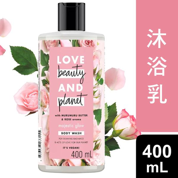 【即期品出清】Love Beauty & Planet 保加利亞玫瑰保濕沐浴乳 400ML_效期至2021/06/28