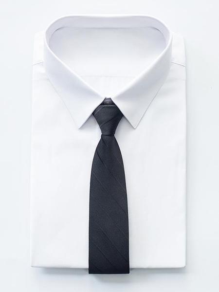 領帶男黑色商務正裝拉錬式免打懶人結婚新郎紅色休閒職業襯衫西裝 限時熱賣