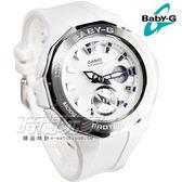 Baby-G BGA-220-7A 時尚風潮海灘豪華露營設計概念休閒錶 白x銀 女錶 日期 BGA-220-7ADR CASIO卡西歐