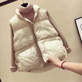 反季特價冬季學生女裝黑色時尚百搭大口袋短款加厚寬松版棉背心女 桃園百貨